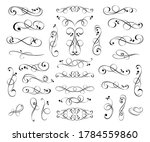set of decorative elements for...   Shutterstock .eps vector #1784559860