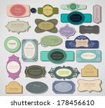 set of retro labels | Shutterstock . vector #178456610