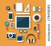 flat design style modern vector ... | Shutterstock .eps vector #178458383