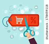 vector discount and sale... | Shutterstock .eps vector #178459118