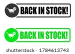 back in stock stamp icon ... | Shutterstock .eps vector #1784613743