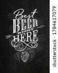 poster lettering best beer...   Shutterstock .eps vector #1784617079