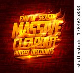 end of season massive clearout  ...   Shutterstock .eps vector #1784625833