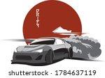 car drift postcard poster print ... | Shutterstock .eps vector #1784637119