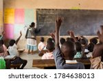 Happy students at a school in...