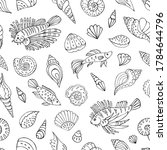 seamless vector pattern with... | Shutterstock .eps vector #1784644796