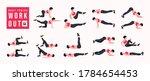body toning workout set. women... | Shutterstock .eps vector #1784654453
