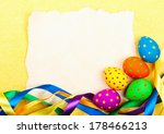 easter card. old paper with... | Shutterstock . vector #178466213