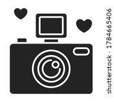 photo camera black glyph icon....