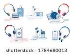 music player evolution vector... | Shutterstock .eps vector #1784680013