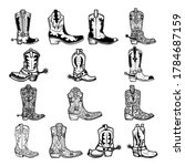 set of illustration of cowboy...   Shutterstock .eps vector #1784687159
