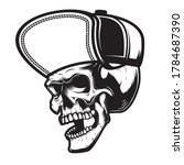 illustration of skull in...   Shutterstock .eps vector #1784687390