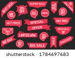 set of red sale  special offer  ... | Shutterstock .eps vector #1784697683