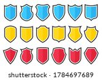 set of different shield icons... | Shutterstock .eps vector #1784697689