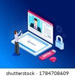 isometric design. vector...   Shutterstock .eps vector #1784708609