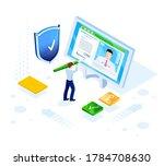 isometric design. vector...   Shutterstock .eps vector #1784708630