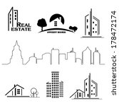 set of houses icons for real... | Shutterstock . vector #178472174