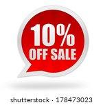 ten percent off | Shutterstock . vector #178473023