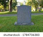Minimal Grey Tombstone Marks A...