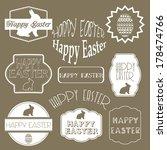 happy easter  set  design...   Shutterstock . vector #178474766