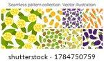 lemon  pineapple  grapes ...   Shutterstock .eps vector #1784750759