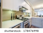 modern kitchen in luxury house. | Shutterstock . vector #178476998