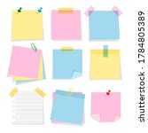 post note stickers template... | Shutterstock .eps vector #1784805389