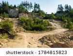 Limestone Quarry Landscape Vie...