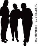 three women together ...   Shutterstock .eps vector #1784818640