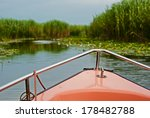 landscape with reeds ...   Shutterstock . vector #178482788