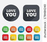 love you sign icon. valentines... | Shutterstock . vector #178484240