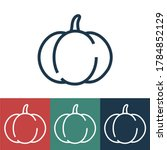 linear vector icon with pumpkin | Shutterstock .eps vector #1784852129