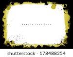 grunge frame. grunge background ... | Shutterstock . vector #178488254