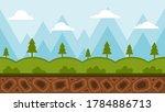 2d game background  flat design ...