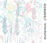 floral rustic vector seamless... | Shutterstock .eps vector #1784898539