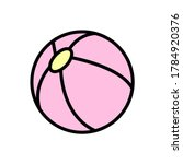 ball  toy icon. simple color...
