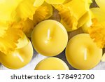 Yellow Candles And Yellow...