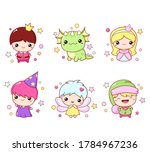set of kawaii fairy tale...   Shutterstock .eps vector #1784967236