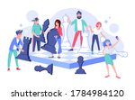 young people team character... | Shutterstock .eps vector #1784984120