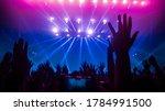 happy people dance in nightclub ...   Shutterstock . vector #1784991500