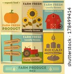 Organic Farm Food Posters Set....
