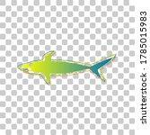 shark sign. blue to green... | Shutterstock .eps vector #1785015983
