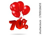Seventy Percent 3d Numbers And...