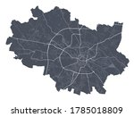 Wroclaw Map. Detailed Vector...