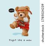 bear doll in thai boxing... | Shutterstock .eps vector #1785024239
