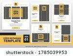 food instagram post template...   Shutterstock .eps vector #1785039953