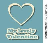 sweet valentine's day card... | Shutterstock .eps vector #178504916
