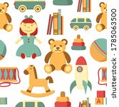 Kids Toy Vector Seamless...