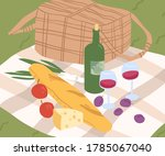 composition for outdoor picnic... | Shutterstock .eps vector #1785067040