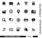 vector set of web and internet... | Shutterstock .eps vector #178506740